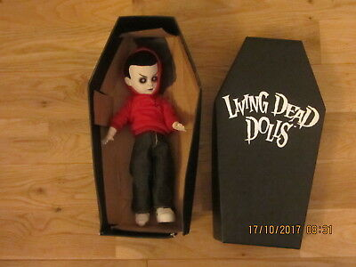 """Mezco Living Dead Doll 10"""" High Jacobs Ladder Goth Doll. Missing Ladder And Shoe"""