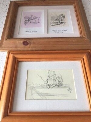 Two Winnie the Pooh Framed Illustrations