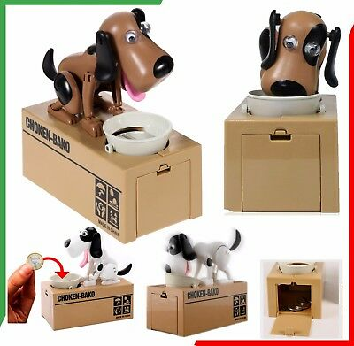 Cucciolo Cane Mangia Monete Salvadanaio Automatico My Dog Piggy Bank IDEA REGALO