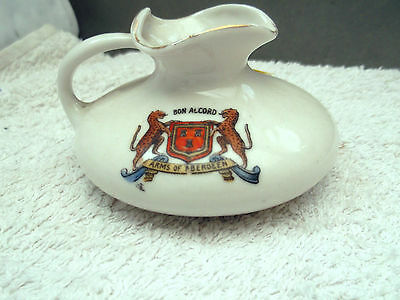 Model Of A Squat Jug By Gemma China Crested Arms Of Aberdeen