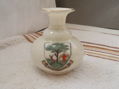 Vintage Model Of A Turkish Scent Jar Crested Huntingdon By Shelley China
