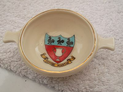 Vintage Model Of A Highland Whisky Bowl By Arcadian China Crested Combe Martin