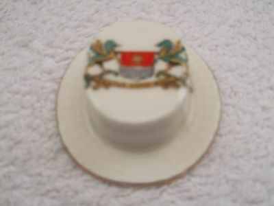 Vintage Model Of An Oval Hat By Gemma China Crested Weston Super Mare