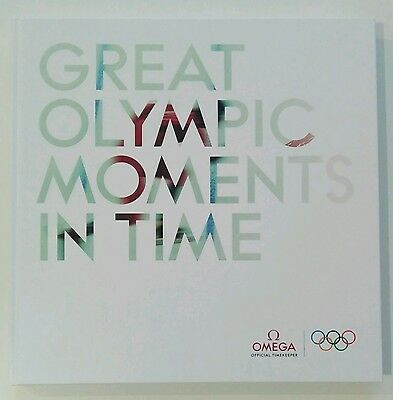 OMEGA WATCH BOOK Great Olympic Moments in Time LIBRO OMEGA EDICION OLÍMPICO