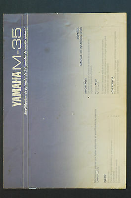 YAMAHA M-35 POWER AMPLIFIER Orig. Bedienungsanleitung/User Manual Top-Zust.!