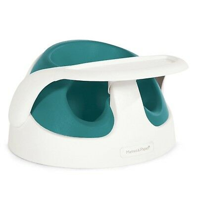 MAMAS AND PAPAS BABY SNUG SEAT WITH PLAY TRAY (teal) RRP £49