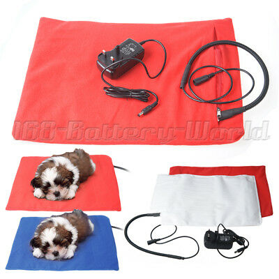 Pet Electric Heat Pad Heating Heater Pad Mat Blanket Whelping Dog Cat Bunny Bed