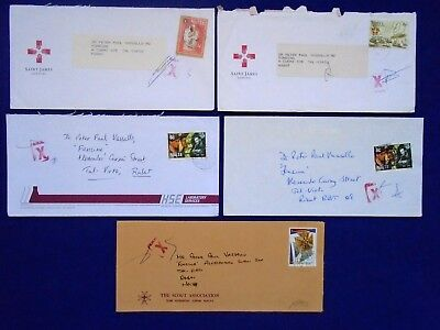 1990's Malta - Post Office Stamped & Signed Crosses on Cover Karen Grech