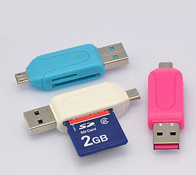 USB OTG TF/SD Card Reader for Cellphone Mobile Phone Tablet PC Media Player