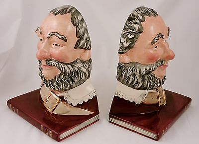 Royal Doulton Toby Character Bookend Set FALSTAFF D7089 Set of 2