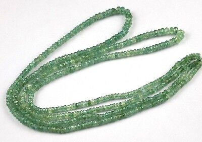 "1 Strand Natural Alexandrite Gemstone Faceted Rondelle Beads 3-4.5mm 16"" Long"