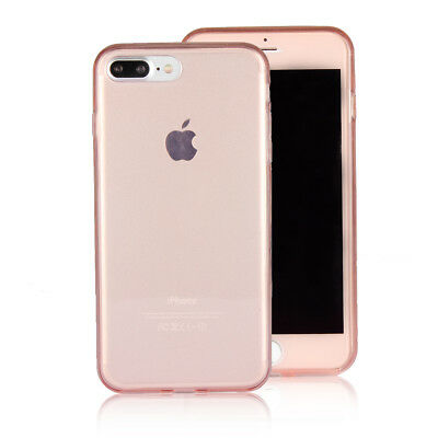 Pink 360 Degrees Full Protection Gel TPU Case Cover Skin For iPhone 7 7 Plus