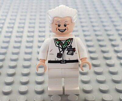Lego Minifigure Minifig Doc Brown Back to the Future From Set 21103 Dual Face