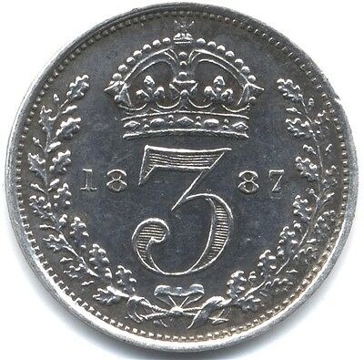 1887 Victoria Silver Threepence***High Grade***Proof***Collectors***
