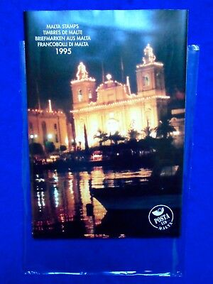 1995 Malta Post Complete Year Pack + Card & Protective Cover MNH.