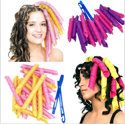 40PCS 55CM Large Magic Hair Curlers No Heat Cheap Rollers Spiral Circle Tools