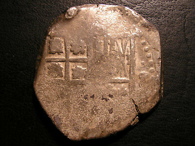 ++ 8 Reales Cob 1600' Spanish Colonial Empire Macuquina ~