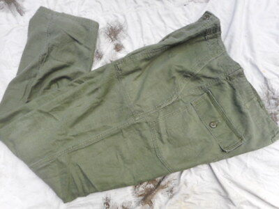 ORIGINAL M51 EARLY VIETNAM US ARMY UTILITY fatigue SATEEN TROUSERS PANTS 38 35 L