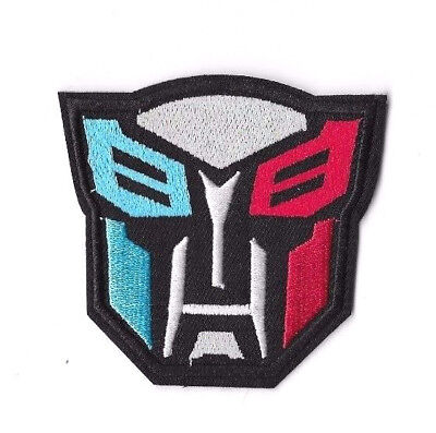 TRANSFORMERS LOGO RED WHITE BLUE Iron on / Sew on Patch Embroidered Badge PT21