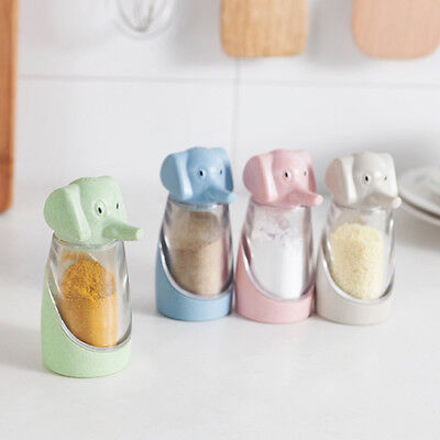 Wheat Straw Elephant Creative Kitchen Supplies Barbecue Seasoning Cans Pepper