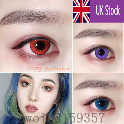 UK SELLER Coloured Contact Lenses Crazy Halloween Cosmetic Makeup Cosplay lens