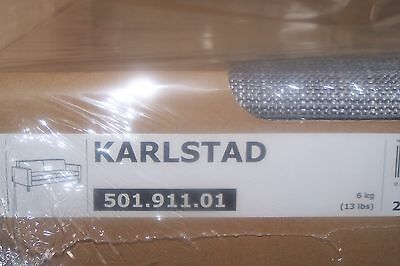 New Ikea Karlstad COVER SET ONLY for Three [3] seat sofa in Isunda Grey
