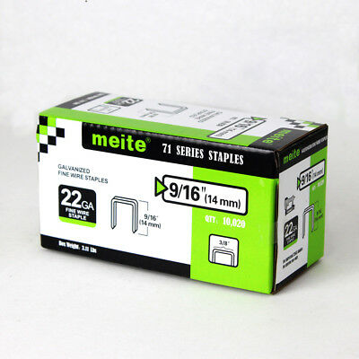 meite 22 gauge 3/8-Inch Crown 9/16-Inch leg Galvanized staple upholstery staples