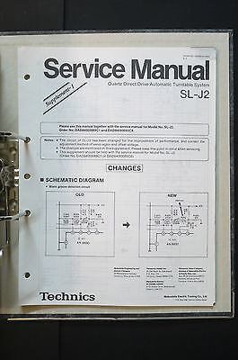 TECHNICS SL-J2  Original Plattenspieler/Turntable Service-Manual/Schaltplan!