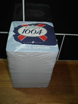 KRONENBOURG 1664 BEER MATS / COASTERS (x100) - NEW / SEALED PACK