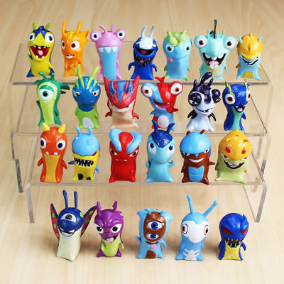 24pcs Cute Slugterra Action Figures Cake Toppers Doll Set Kids Boy Girl Toy Gift