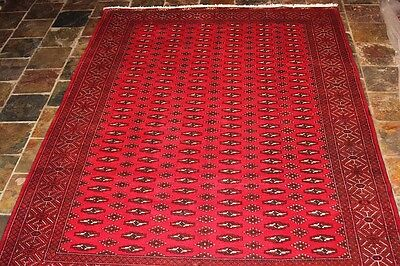 Genuine hand knotted Persian rug/FINE WEAVE 278X200 Torkuman tribal rug runner