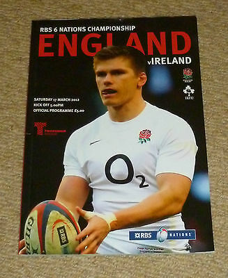 England v Ireland 6 Nations official programme (2012)