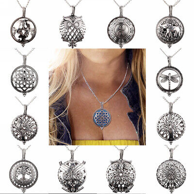 Tree of Life Aromatherapy Perfume Essential Oil Diffuser Necklace Pendant Locket