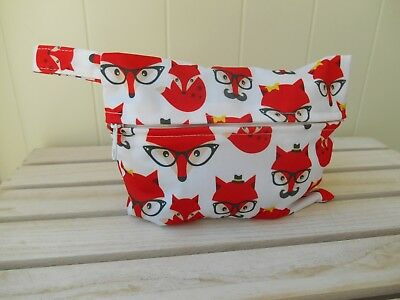 Mini Small Wet Bag - Foxes - SECONDS