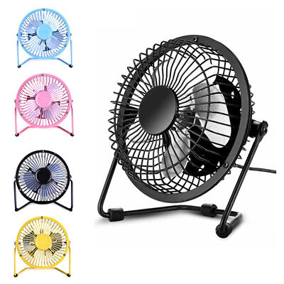 "Portable 360 Degree 4"" USB Mini Desktop Metal Blades Cooling Desk Fan Personal"