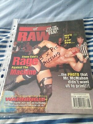 WWF Raw Wrestling Magazine August 1998 Stone Cold