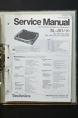 TECHNICS SL-JS1  Original Plattenspieler/Turntable Service-Manual/Schaltplan!