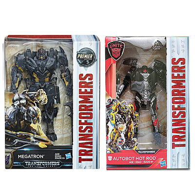 Transformers Last Knight Premier Edition Voyager Megatron + Deluxe Hot Rod NEW