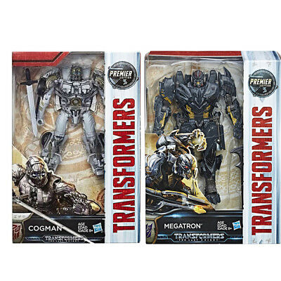 Transformers Last Knight Premier Edition Voyager Megatron + Deluxe Cogman NEW