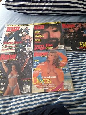 WWF Wrestling Raw Magazines 2000 Hardy Boys Mick Foley Chyna Chris Beniot