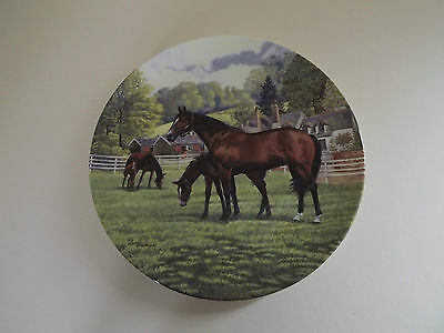 Royal Doulton Britain's Finest Horses Plate 'The Thoroughbred' (63,172)