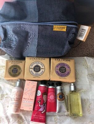 Assorted Lot of 10 L'Occitane Samples Including Bag