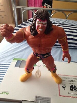 "1990 Hasbro 12"" WWF WWE Ultimate Warrior Pull-String Talking Wrestling Figure"
