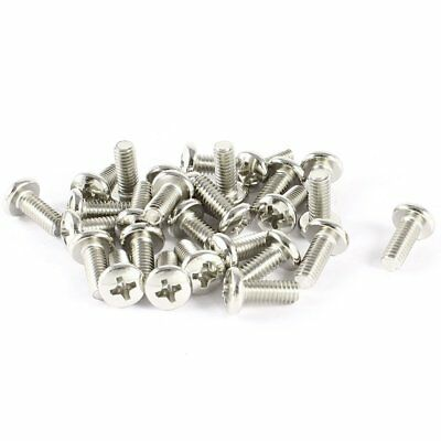 30 Pcs VESA TV LCD Monitor Mounting Philips Head Screws M4 x 10mm WS W8H9