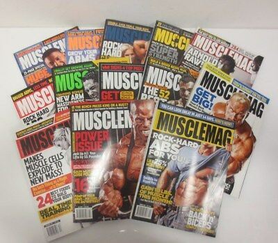 13 Issues x Musclemag International Magazine Body Building -  Large Bundle Lot *