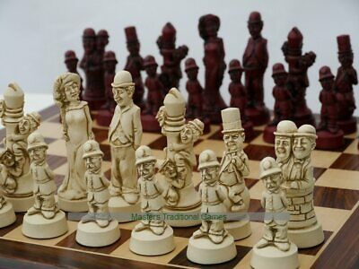 Movie Stars Ornamental Chess Set (cream and red, no board)