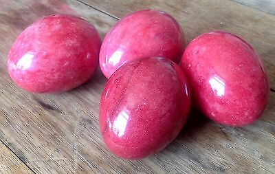 Light Red / Pink Marble Eggs 3 Inches 7.5cm