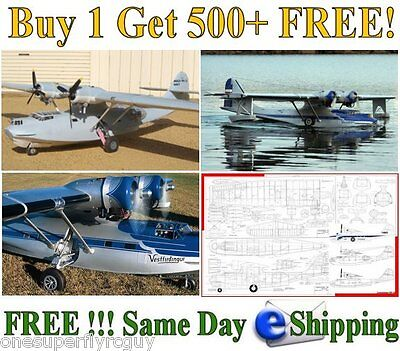 PBY Catalina Giant Scale RC Airplane Full Size Plans & Templates in PDF Format
