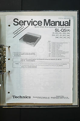 TECHNICS SL-Q5  Original Plattenspieler/Turntable Service-Manual/Schaltplan!