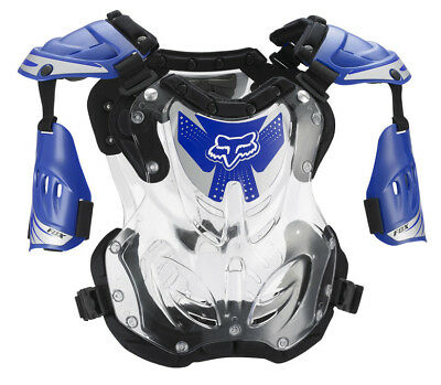 NEW Fox Racing R3 Small Armour Black Blue Kids Youth MX Dirtbike Chest Protector